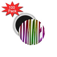Summer Colorful Rainbow Typography 1 75  Magnets (100 Pack)  by yoursparklingshop