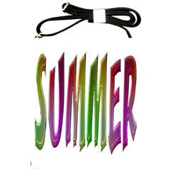 Summer Colorful Rainbow Typography Shoulder Sling Bags by yoursparklingshop