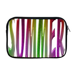 Summer Colorful Rainbow Typography Apple Macbook Pro 17  Zipper Case by yoursparklingshop