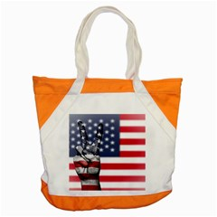 United State Flags With Peace Sign Accent Tote Bag by goodart