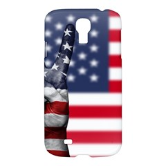 United State Flags With Peace Sign Samsung Galaxy S4 I9500/i9505 Hardshell Case by goodart