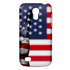 United State Flags With Peace Sign Galaxy S4 Mini by goodart