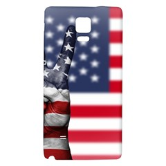United State Flags With Peace Sign Galaxy Note 4 Back Case by goodart