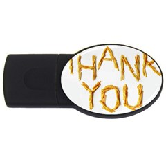 Thank You French Fries Usb Flash Drive Oval (4 Gb) by goodart