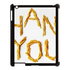 Thank You French Fries Apple Ipad 3/4 Case (black) by goodart