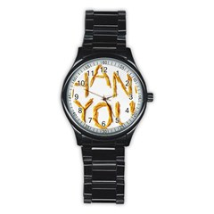 Thank You French Fries Stainless Steel Round Watch by goodart