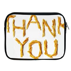 Thank You French Fries Apple Ipad 2/3/4 Zipper Cases by goodart