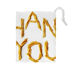 Thank You French Fries Drawstring Pouches (large)