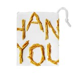 Thank You French Fries Drawstring Pouches (Large)  Front