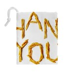 Thank You French Fries Drawstring Pouches (Large)  Back