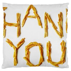 Thank You French Fries Large Flano Cushion Case (one Side) by goodart