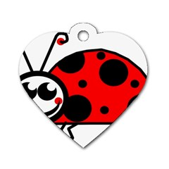 Lady Bug Clip Art Drawing Dog Tag Heart (one Side)