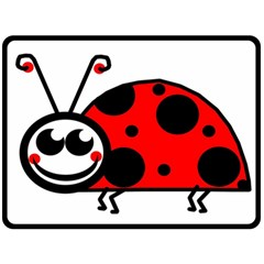 Lady Bug Clip Art Drawing Double Sided Fleece Blanket (large)  by goodart