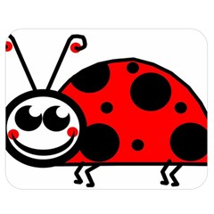 Lady Bug Clip Art Drawing Double Sided Flano Blanket (medium)
