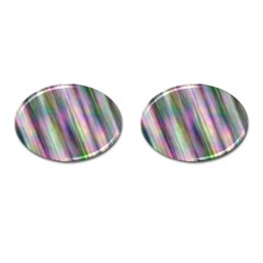 Gradient With Resynthetize Texture Cufflinks (oval) by goodart