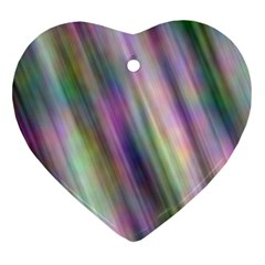 Gradient With Resynthetize Texture Heart Ornament (two Sides)