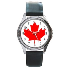 Flag Of Canada Round Metal Watch by goodart