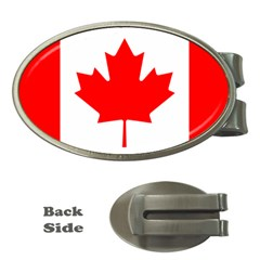 Flag Of Canada Money Clips (oval)  by goodart