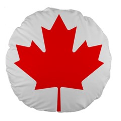 Flag Of Canada Large 18  Premium Round Cushions by goodart