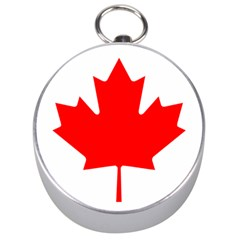 Flag Of Canada Silver Compasses by goodart