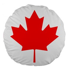 Flag Of Canada Large 18  Premium Flano Round Cushions by goodart