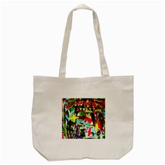 No Warrant For Blossoming Corner Tote Bag (cream) by bestdesignintheworld
