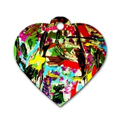 No Warrant For Blossoming Corner Dog Tag Heart (one Side) by bestdesignintheworld