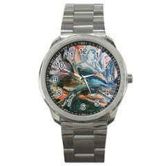 Night Lillies Sport Metal Watch by bestdesignintheworld