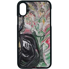 Lady With Lillies Apple Iphone X Seamless Case (black) by bestdesignintheworld