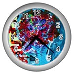 Meet Me In Osaka Wall Clocks (Silver)  Front