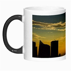 Skyline Sunset Buildings Cityscape Morph Mugs