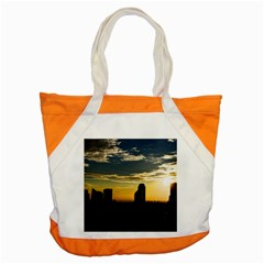 Skyline Sunset Buildings Cityscape Accent Tote Bag by Simbadda