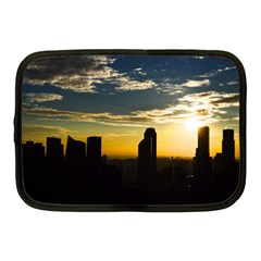 Skyline Sunset Buildings Cityscape Netbook Case (medium)  by Simbadda
