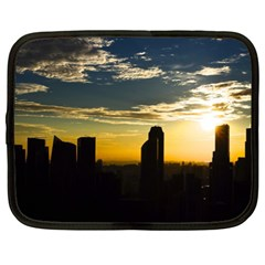 Skyline Sunset Buildings Cityscape Netbook Case (xl)