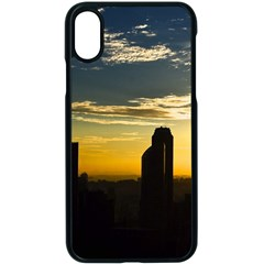 Skyline Sunset Buildings Cityscape Apple Iphone X Seamless Case (black) by Simbadda