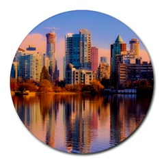 Vancouver Canada Sea Ocean Round Mousepads by Simbadda