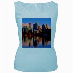 Vancouver Canada Sea Ocean Women s Baby Blue Tank Top by Simbadda