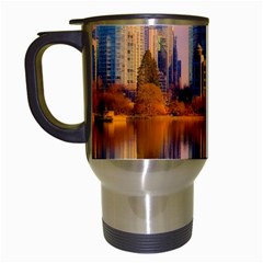 Vancouver Canada Sea Ocean Travel Mugs (white) by Simbadda