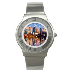 Vancouver Canada Sea Ocean Stainless Steel Watch by Simbadda