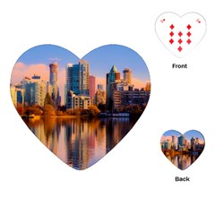 Vancouver Canada Sea Ocean Playing Cards (heart)  by Simbadda