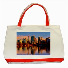 Vancouver Canada Sea Ocean Classic Tote Bag (red)