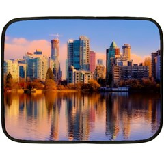Vancouver Canada Sea Ocean Double Sided Fleece Blanket (mini)