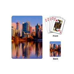 Vancouver Canada Sea Ocean Playing Cards (mini)  by Simbadda