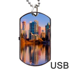 Vancouver Canada Sea Ocean Dog Tag Usb Flash (two Sides) by Simbadda