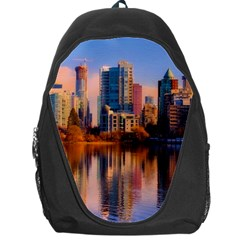 Vancouver Canada Sea Ocean Backpack Bag by Simbadda