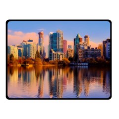 Vancouver Canada Sea Ocean Double Sided Fleece Blanket (small)