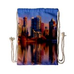 Vancouver Canada Sea Ocean Drawstring Bag (Small) Back