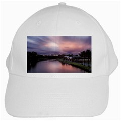 Sunset Melbourne Yarra River White Cap by Simbadda