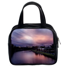 Sunset Melbourne Yarra River Classic Handbags (2 Sides) by Simbadda