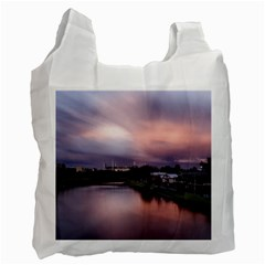 Sunset Melbourne Yarra River Recycle Bag (two Side)